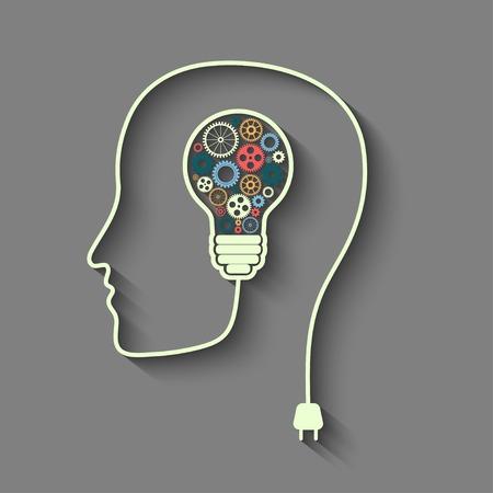 Human head creating a new idea.