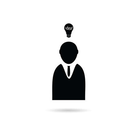 idea with people icon illustration on a white