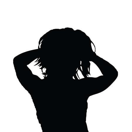 woman black vector silhouette