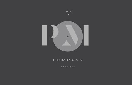 Pm p l  grey modern stylish alphabet dot dots company letter logo design vector icon template