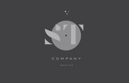 St S T Grey Modern Stylish Alphabet Dot Dots Eps Company