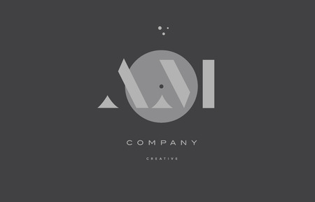 AM  grey modern stylish alphabet dot dots eps company letter logo design vector icon template