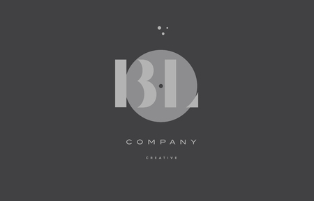 bl b l  grey modern stylish alphabet dot dots eps company letter logo design vector icon template