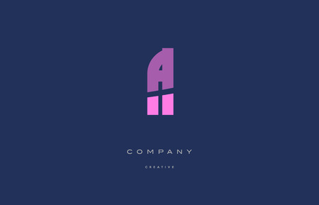fl f l  pink blue pastel modern abstract alphabet company logo design vector icon template