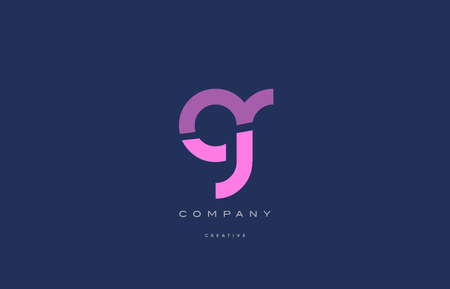 gr g r  pink blue pastel modern abstract alphabet company logo design vector icon template