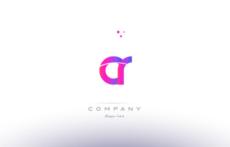 cr c r  pink purple modern creative gradient alphabet company logo design vector icon template