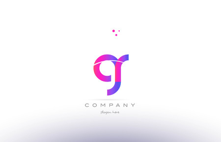 gr g r  pink purple modern creative gradient alphabet company logo design vector icon template