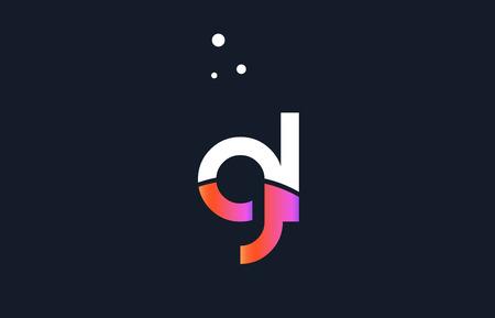 GL pink modern creative purple alphabet white blue gradient company letter logo design vector icon template.
