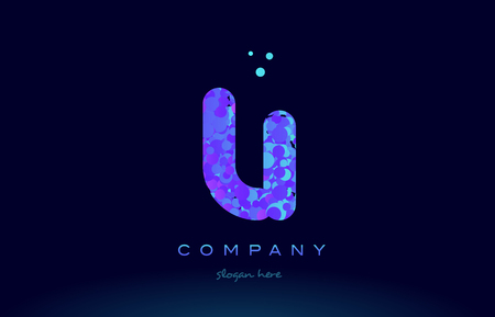 li alphabet pink blue bubble circle dots logo icon design template