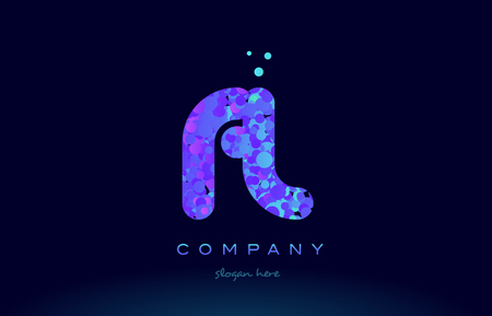 fl f l alphabet pink blue bubble circle dots creative letter company logo vector icon design template