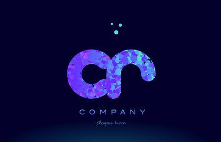 cr alphabet pink blue bubble circle dots logo icon design template