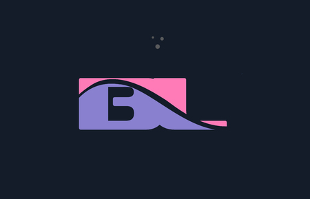 bl b l pink blue magenta alphabet letter logo purple font creative text dots company vector icon design template