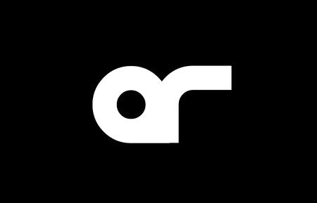 AR A R letter logo combination alphabet