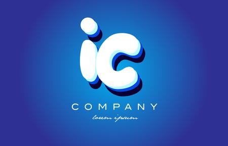 IC I C letter logo combination alphabet
