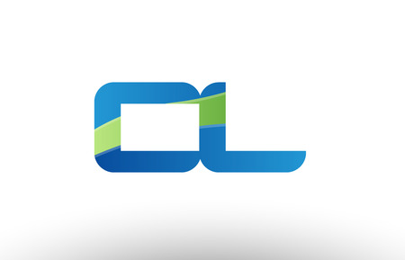 Design of alphabet letter logo combination cl c l with blue green color suitable as a logo for a company or business