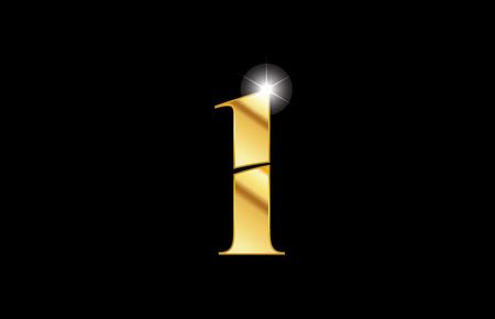 Illustration pour gold golden metal metallic number 1 one logo icon design for a company or business - image libre de droit