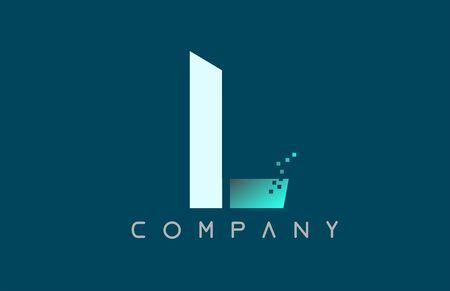 blue alphabet letter L logo design suitable for a company or business