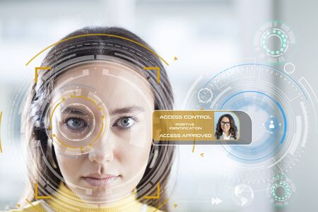 Photo pour Facial Recognition System - image libre de droit
