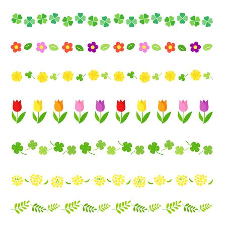Illustration pour Spring decoration line set - image libre de droit