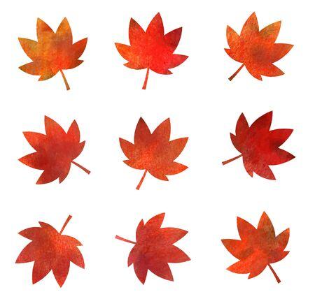 Illustration pour Autumn leaves icon texture (watercolor pencil) - image libre de droit