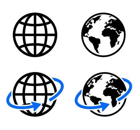 Illustration pour globe icon of web image set - image libre de droit