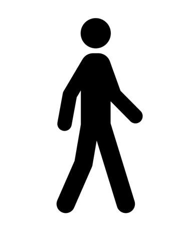 Illustration for Walking person Public vector icon - Royalty Free Image