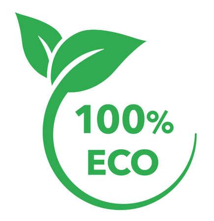 Illustration pour Leaf and ecology vector mark - image libre de droit