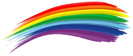 Art rainbow abstract vector background brush stroke