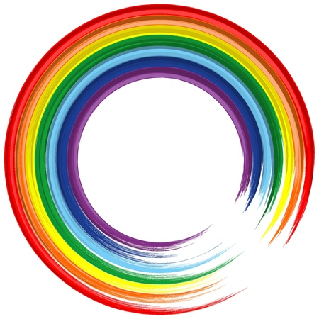 Art rainbow frame abstract vector background 2