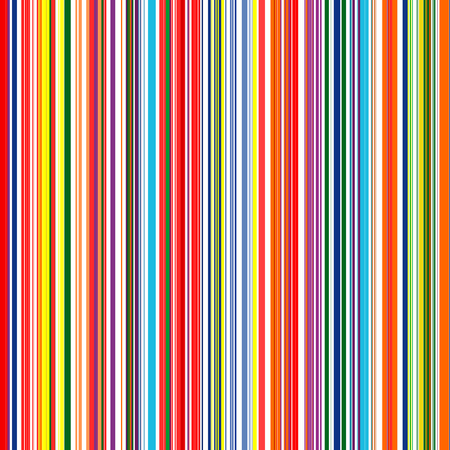 Seamless rainbow curved stripes color line art background