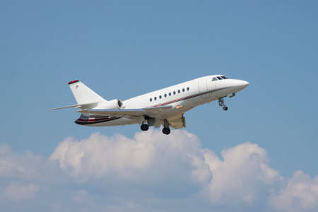 Small business jet takeoff