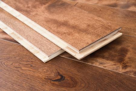 Photo pour Wooden flooring parquet boards click locking - image libre de droit