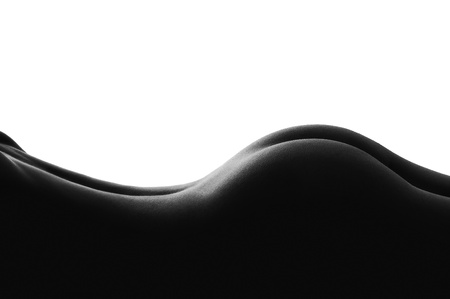 woman body on white background isolated