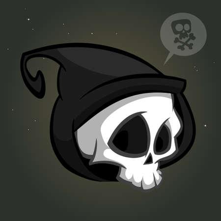 Illustration pour Grim reaper logo mascot vector - image libre de droit