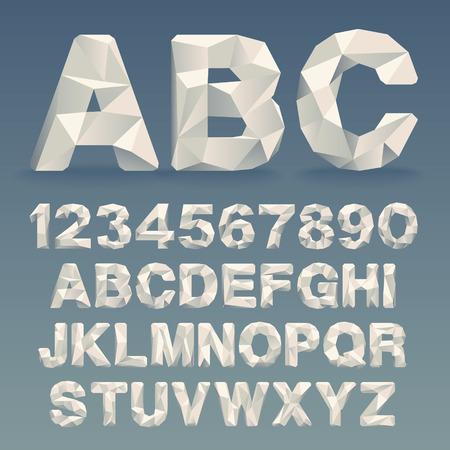 Illustration pour Vector Lowpoly Font - image libre de droit