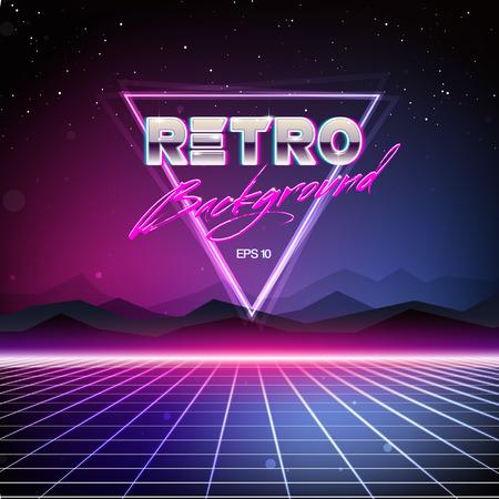 Photo pour 80s Retro Sci-Fi Background - image libre de droit