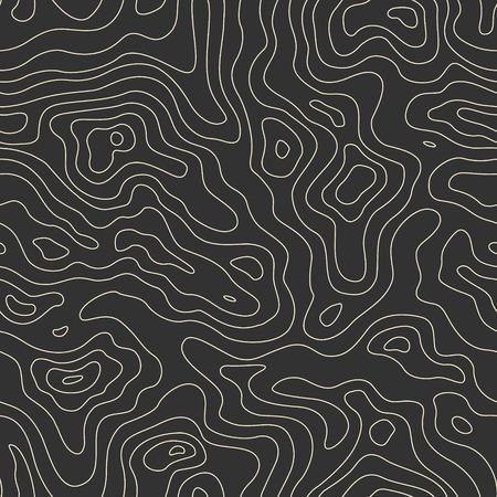Ilustración de Topographic Map Seamless Pattern. Vector Background - Imagen libre de derechos