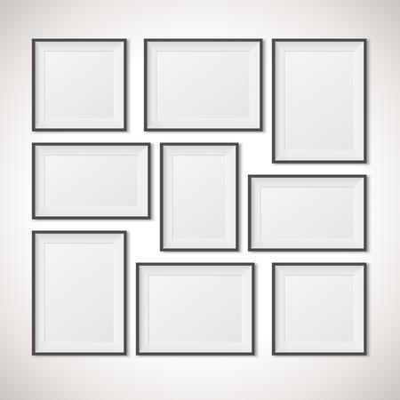 Multiple Frames vector illustration