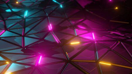 Foto de Abstract low-poly triangular polygonal mosaic render background for prints, web and presentations. Realistic 3D design template - Imagen libre de derechos
