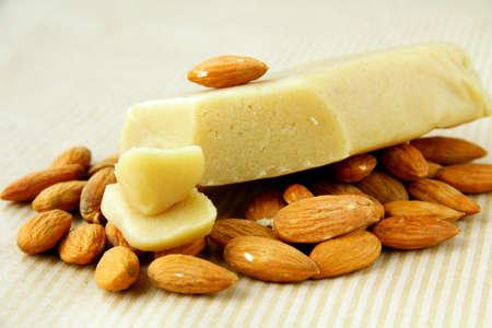 Marzipan almonds bread , wish fresh almond