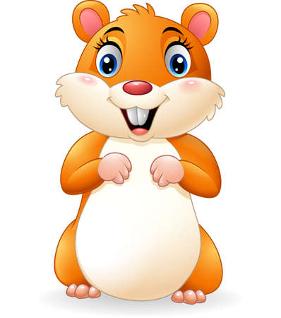 Illustration for Cartoon smiling hamster - Royalty Free Image