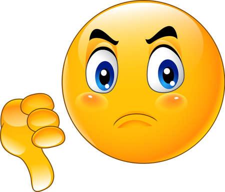 Illustration pour Vector illustration of Cartoon dislike emoticon - image libre de droit