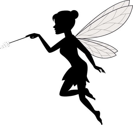 Illustration for vector illustration of Fairy Waving Her Wand - Royalty Free Image