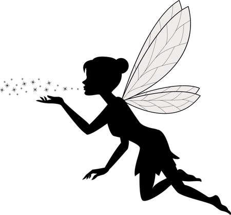 Illustration pour vector illustration of Cute fairy flying - image libre de droit