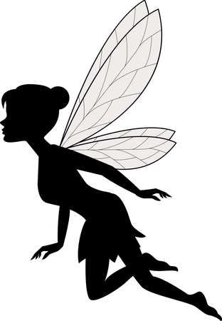 Illustration for vector illustration of Cute fairy flying - Royalty Free Image