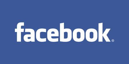 Photo pour Facebook, Logo on Computer Screen - image libre de droit