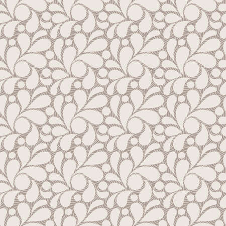Vector seamless pattern of stylized leaves and petals