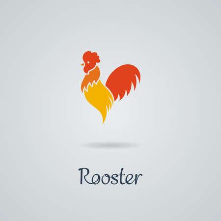 Illustration pour Rooster, cock, chicken vector illustration. Logo design. Emblem, symbol. - image libre de droit