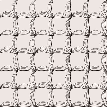 Vector doodle seamless pattern with ink brush or pen strokes. Abstract endless background.