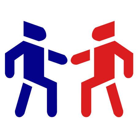 Illustration pour People social brotherhood relationship bonding in vector icon. - image libre de droit